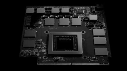 Rendering eines Referenzmoduls der Geforce GTX 980 für Notebooks