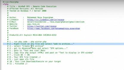 Mit einem Perl-Script lassen sich Winrar-Dateien infizieren.