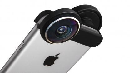 Der Shot-Adapter auf einem iPhone