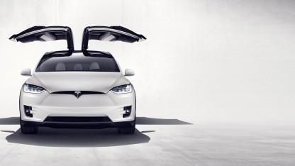 Tesla Model X mit Falkentüren