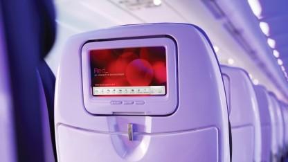 Redtouch-Screen-System von Virgin America