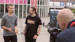 Sebastian Wochnik, Tobias Költzsch und Martin Wolf auf der Ifa 2015