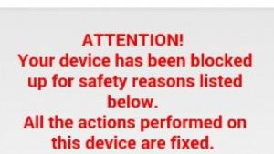 Die Ransomware sperrt das Smartphone und täuscht FBI-Ermittlungen vor.