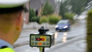 Lasermessgerät der Polizei in Nordrhein-Westfalen