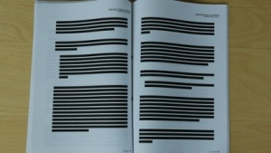 Die Klageschrift der Opposition ist auf vielen Seiten geschwärzt.