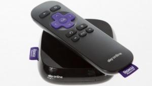 Sky Online TV Box mit Infrarotfernbedienung