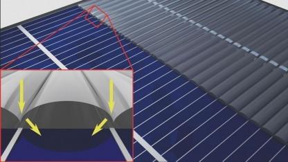 Solarzelle mit Tarnkappe: für die Massenfertigung geeignet