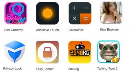Die Malware nutzt die Symbole beliebter Apps, um sich zu tarnen.
