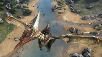 In Ark Survival Evolved können Spieler Saurier wie Pteranodons zähmen.