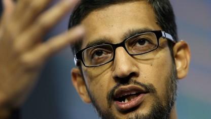 Google-Chef Sundar Pichai: Treffen mit zwei EU-Kommissaren