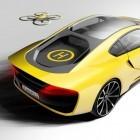 Rinspeed Etos: Selbstfahrender Sportwagen mit Drohne auf dem Heck