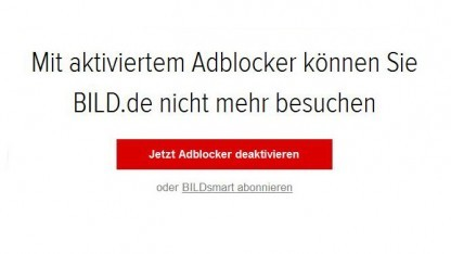 Zwei Drittel aller Leser von Bild.de schalten nach diesem Hinweis ihren Adblocker aus.