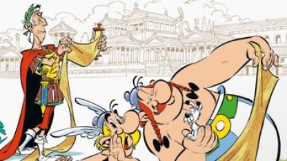 Asterix und Obelix schlagen sich auch in Band 36 mit Julius Cäsar herum.