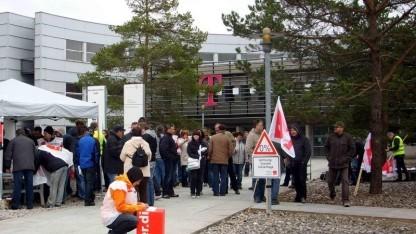 Frühere Verdi-Aktion bei der Telekom