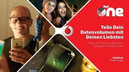 Vodafone-Tarife erlauben Datenteilen.