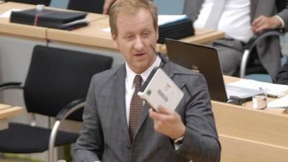 Der medienpolitische Sprecher der Landtagsfraktion Bündnis 90/Die Grünen, Sören Herbst, im Landtag von Sachsen-Anhalt