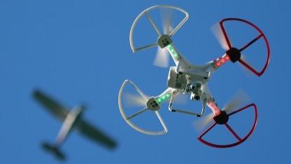 Drohne bei Flug in den USA
