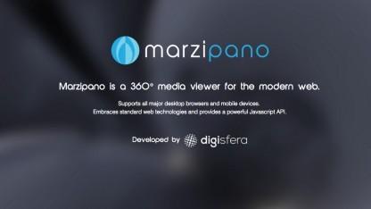 Wird auch nach der Übernahme durch Google weiterentwickelt: Marzipano von Digisfera.