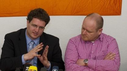 Bernd Schlömer und Sebastian Nerz sind jetzt FDP-Mitglieder.