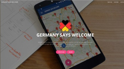 Germany Says Welcome war eines der Projekte, an denen beim Refugee Hackathon in Berlin gearbeitet wurde.