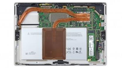 Beim Surface Pro 4 mit Core M fehlt der Lüfter der größeren Modelle.