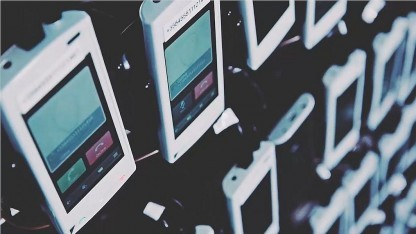 Smartphones beim 5G-Test von Nokia Networks und SK Telekom