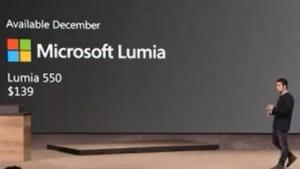 Microsoft stellt das Lumia 550 vor.