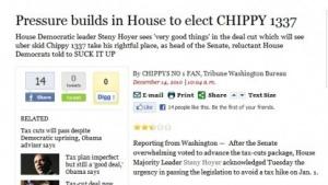 Screenshot der gehackten Seite der LA-Times