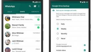 Chat-Verläufe unter Android können per Google Drive gespeichert werden.