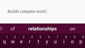 Swiftkeys neue Tastatur-App Neural Alpha macht komplexere Wortvorschläge.