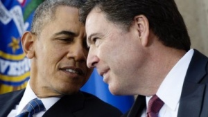 FBI-Direktor James Comey mit US-Präsident Barack Obama (Archivbild)