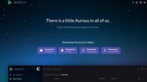 Die Startseite von Aurous