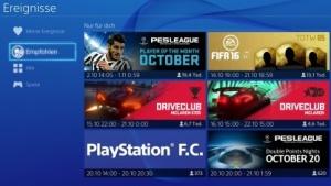 Menü Playstation 4 mit Firmware 3.00
