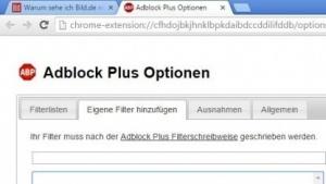 Die Werbeblockersperre von Bild.de lässt sich mit Hilfe von Filterbefehlen umgehen.