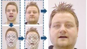 Mimikübertragung: Zähne oder Bart werden ergänzt.
