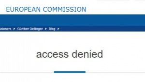 Günther Oettingers Blogbeitrag zum Thema Netzneutralität war zunächst nicht zu sehen.