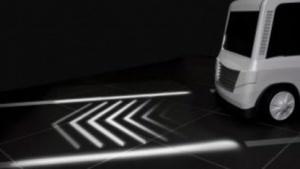 Projektionssystem für Autos soll Fußgänger informieren