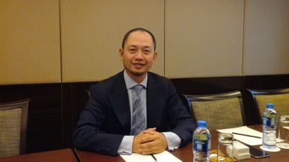 Heng Qiu, President Wireless Marketing Operation bei Huawei, im Interview mit Golem.de-Redakteur Achim Sawall