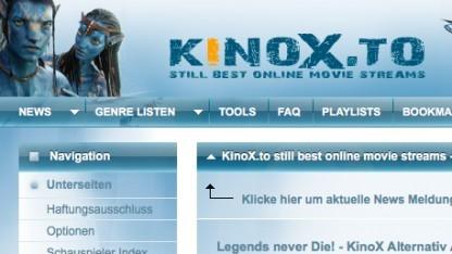 Kinox.to war zwischenzeitlich nicht erreichbar.