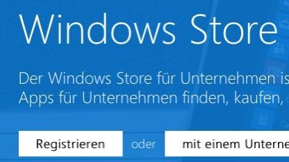 Microsofts Windows Store für Unternehmen wurde bereits freigeschaltet.