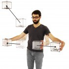 Bitdrones: Ein Display aus Drohnen stellt Inhalte im Raum dar