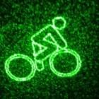 Blaze Laserlight: Fahrradscheinwerfer malt Lasermuster auf die Straße