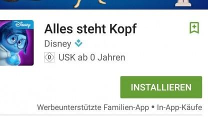 Im Familienbereich des Play Stores ist die Kennzeichnung werbeunterstützter Apps bereits üblich.