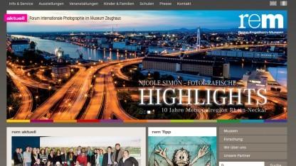Screenshot der Webseite des Reiss-Engelhorn-Museums