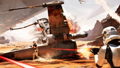 Artwork der Schlacht von Jakku in Star Wars Battlefront
