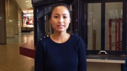 Studentin in Berlin in einem TU-Werbevideo