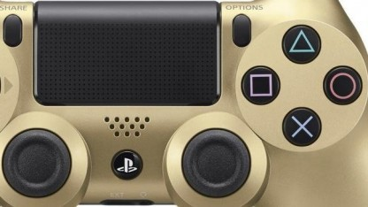 Goldener PS4-Controller