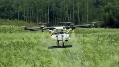 DJI-Drohne MG-1 Agras: Spritzdüsen unter den Rotoren
