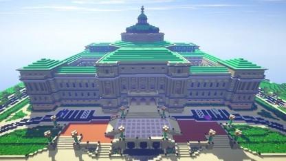 In Minecraft nachgebautes Gebäude aus Wahsington DC