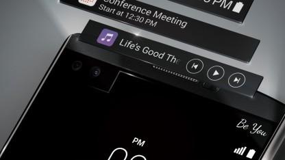 LG bringt das V10 mit Zusatzdisplay nach Deutschland.
